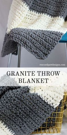 The Granite Crochet Throw Blanket - Free Crochet Blanket Pattern from Rescued Paw Designs http://www.rescuedpawdesigns.com