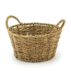 Seagrass Basket Round 23TDx18BDWx12Hcm Each - Natural (10-Bas-289-304) | Oceans specialises in the development and wholesale distribution of creative floral and gift presentation solutions. Through providing outstanding customer service, and maintaining superior delivery standards, Oceans has a well-earned reputation as market leaders in New Zealand's floral and gift packaging industry. Wedding, Wedding DIY, Favour, gifts,Christmas,