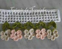 Order brides Eve Algeria largest compilation of adorn Eroha - Forums Eve Algeria Crochet Boarders, Crochet Lace Edging, Crochet Stitches Patterns, Love Crochet, Irish Crochet, Crochet Designs, Crochet Doilies, Crochet Flowers, Crochet Trim