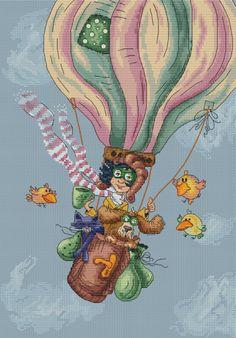 Gallery.ru / Полёт на воздушном шаре - мои авторские схемы вышивки крестом - malkova-nastya