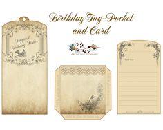 glenda's World : Happy Birthday Wishes Tag-Pocket & Card