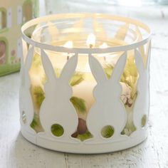 Check out this cute bunny 3 wick jar holder!!!  Get yours today at www.partylite.biz/supermommy