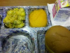 Jacy - This lunch is: Chicken Patty, Orange Jello flavored AppleSauce, Milk and Cheese w/ Brocolli