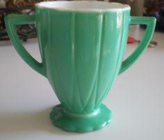 Vintage Depression Glass Jadite Green & White by NeldaMaesCloset, $8.50