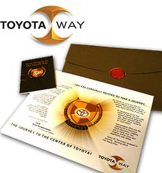 The Toyota Way logo is one of my greatest commercial successes.  I loved working for Toyota.