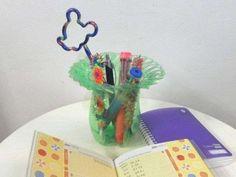 Riciclo creativo di carta, vetro e plastica - Vasetto di plastica
