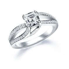 Royal Asscher Cut Engagement Ring model RGR14625