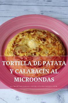 TORTILLA DE PATATA Y CALABACÍN. UNA FORMA DIFERENTE Y MÁS SALUDABLE DE LA TORTILLA ESPAÑOLA #tortilla #recetasaludable