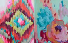 Kristy Gammill, a 34 year old artist and mother of three teenagers, finds inspiration in ancient textiles and flea market finds. Her impressionist-like paintings are so beautifully saturated in color, they would just about brighten anybody's day.