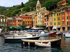 I've seen many paintings of Portofino, Italy & can understand why. Being there felt like walking in a painting. Most Romantic Places, Exotic Places, Wonderful Places, Beautiful Places, Vacation Destinations, Vacation Spots, Vacations, Places To See, Places Ive Been