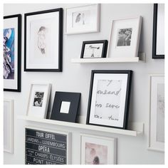IKEA - MOSSLANDA, Picture ledge, white, The picture ledge has a special groove to keep smaller frames at the perfect angle. The picture ledge makes it easy to vary your favourite motifs as often as you like. Mosslanda Picture Ledge, Picture Ledge Shelf, Picture Wall, Picture Frames, Ikea Photo Ledge, Photo Ledge Display, Photo Shelf, Ikea Picture Shelves, Wall Ledge Shelf