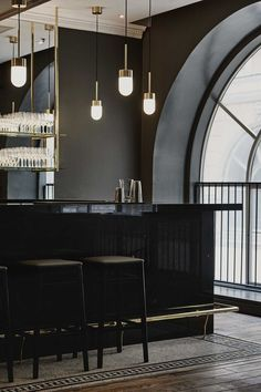 Helsinki-based Joanna Laajisto strikes again, this time with an interior of a night-club in down town Helsinki. Club Le Roy, is located upstairs to the recently opened Michel restaurant, also design