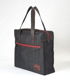 SAC WEEK-END DENIM CHOCO / Nomade Collection / MY BIOTIFUL BAG