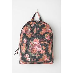 BDG Flora Adorned Backpack ($49) ❤ liked on Polyvore