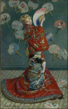 Claude Monet, La Japonaise (Camille Monet in Japanese Costume), 1876. Boston, Museum of Fine Arts