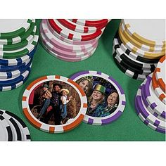 Raise the stakes with full color, photo poker chips! Upload your very own photo and we'll print it directly on to each custom, photo poker chip!
