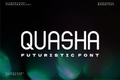 Quasha is a futuristic and cool display font. This font is ideal for writing web designs, business cards, or pretty... Modern Fonts, Premium Fonts, All Fonts, Futuristic, Business Cards, Improve Yourself, Web Design, Display, Lettering