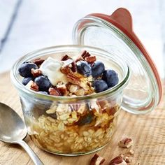 Creamy Blueberry-Pecan Overnight Oatmeal  - EatingWell.com