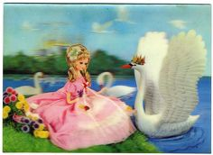 Lenticular Postcard: Leda And The Swan by mrwaterslide, via Flickr