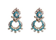 blue drop earring for women