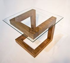 Fife Side Table  Walnut by GalahadFurniture on Etsy, $ 525.00