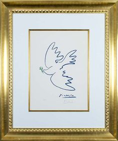 Picasso Lithograph Signed, Dove of Peace, c. 1955-1960 (image 2)