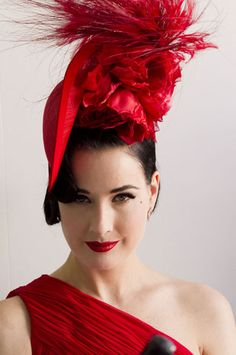 Dita Von teese at the races in a Philip Treacy hat.........  REGISTER FOR THE RMR4 INTERNATIONAL.INFO PRODUCT LINE SHOWCASE WEBINAR BROADCAST at: www.rmr4international.info/500_tasty_diabetic_recipes.htm    .......      Don't miss our webinar!❤........