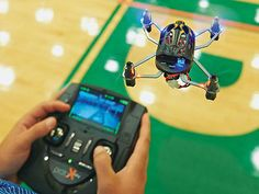 This is the Estes Proto-X FPV Ready to Fly Micro Quadcopter. **Make sure battery is connected before charging and protective film** **is removed from FPV lens before use.** FEATURES: Equipped with a 1