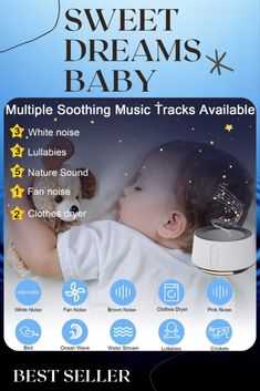 Best Seller! White Noise Machine with Adjustable Baby Night Light for Sleeping, 14 High Fidelity Sleep Machine Soundtracks, Timer and Memory Feature, Sound Machine for Baby, Adults, Home and Office #parenting #baby #smartparenting #babies #babysleep #pregnancy #healthysleep #healthyhome Modern Window Design, Pink Noise, White Noise Sound, Sweet Dreams Baby, Baby Night Light, Dream Baby, Healthy Sleep, Unique Architecture, Minimalist Decor