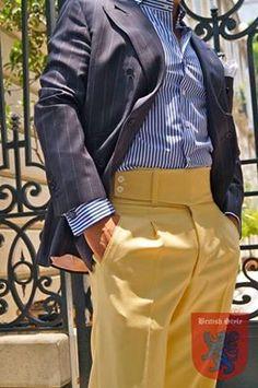 Mens Fashion Style – The World of Mens Fashion Fashion Pants, Fashion Outfits, Bespoke Clothing, Preppy Men, Men Trousers, Yellow Pants, Stylish Mens Outfits, Best Mens Fashion, Gentleman Style
