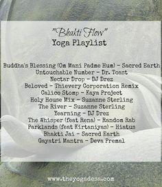 yoga playlist, bhakti flow