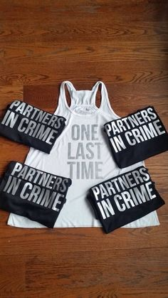 Partners in Crime One Last Time Bridal Party Tanks Bride Shirt FREE Bachelorette Party Tanks Bachelorette Party Shirts Bachelorette Party Planning, Bachlorette Party, Bachelorette Party Shirts, Bachelorette Weekend, Bachlorette Shirt Ideas, Bridal Party Shirts, Wedding Shirts, Braut Shirts, Bridesmaids And Groomsmen