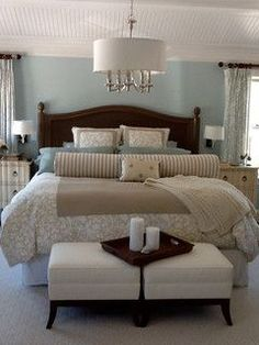 Steely Light Blue Bedroom Walls Wide Plank Rustic Wood
