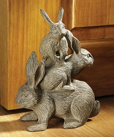 Another great find on #zulily! Bunched Bunnies Cast Iron Figurine #zulilyfinds
