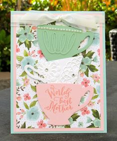 Krystal's Cards: Stampin' Up! A Nice Cuppa - Best Mother #stampinup #krystals_cards #anicecuppa