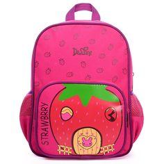 3c856ae99413 Baby Lightweight Toddler kindergarten Kids School Bags Preschool Girls Boys  Fish Strawberry Cartoon School Backpack