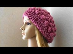 How To Knit A Raspberry Hat, Lilu's Knitting Corner Video # 58 - YouTube