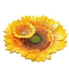 Sunflower Themed Kitchen, Sunflower Gifts, Sunflower Seeds, Glass Fruit Bowl, Pottery Bowls, Pottery Ideas, Happy Flowers, Dinner Plate Sets, Toy Kitchen