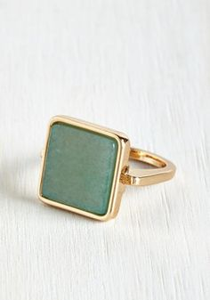 Amazonite and Day Ring. Once you adorn your digits with this dazzling golden ring, youll feel fashionably anew! #mint #modcloth