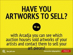 Do you have any artworks to sell?  www.arcadja.com