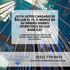 Es tiempo de organizar tu vida financiera..asesorate con nosotros Hard Money Lenders, Private Loans, Local Banks, Service Learning, Thing 1, Financial Institutions, New Construction, Houston, Texas