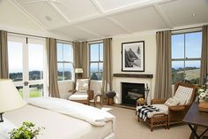 Owner's Cottage Master Bedroom | The Farm at Cape Kidnappers New Zealand