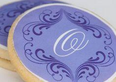"monogram ""romantic"" (purple) :: monogram shop :: gumdrop cookie shop"