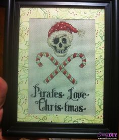 One of this year's holiday projects.  (I made 4 of them, each with their own unique mistakes.  This one has a very glaring one. Sigh.)  From a Sue Hillis design.