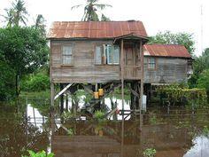 A flooded house, Guyana