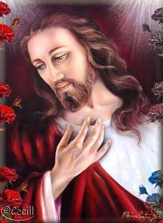 ♡ Beautiful Jesus --This is an artists rendition of our Savior Jesus Christ. Jesus Our Savior, King Jesus, Jesus Is Lord, Pictures Of Christ, Jesus Christ Images, Croix Christ, Image Jesus, Christ The King, Jesus Face