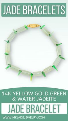 Watery jade cylindrical bead 8 inch bracelet with green jade free-form bead accents with 14K yellow gold fishhook clasp Use discount code INSTA10JORDAN at checkout! Jade Bracelet, Pearl Bracelet, Bracelets, Jade Green, Bracelet Patterns, Unique Gifts, Yellow, Gold, Etsy
