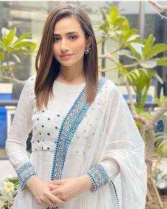 85 Likes, 0 Comments - Sana Javed Pakistani Dresses Casual, Casual Party Dresses, Pakistani Dress Design, Stylish Dresses, Stylish Dress Designs, Dress Neck Designs, Designer Party Wear Dresses, Kurti Designs Party Wear, Dress Indian Style