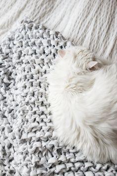 giant knit blanket