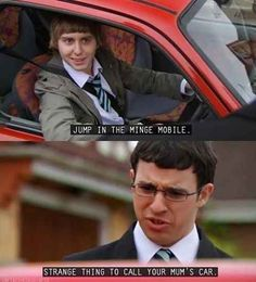British humour, inbetweeners quotes, the goldbergs, tv show quotes, movie q Tv Show Quotes, Movie Quotes, Inbetweeners Quotes, British Comedy, British Humour, English Comedy, British Memes, Fools And Horses, Comedy Tv